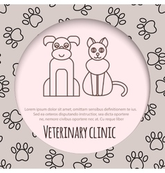 Veterinary pet health care animal medicine icons vector image