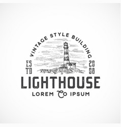 vintage style lighthouse abstract sign vector image