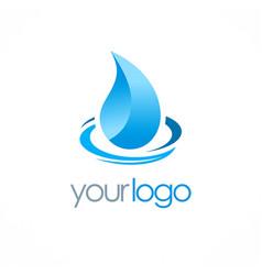 Water drop aqua logo vector