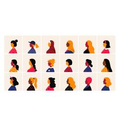 Woman profile female head side view minimal vector
