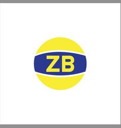 Z b letter logo monogram design vector