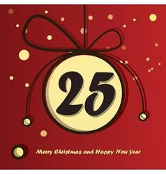25 december day in christmas ball vector