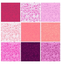 Big set of Valentine seamless patterns vector image vector image