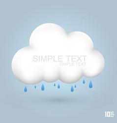 cloud and rain vector image