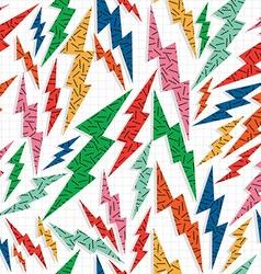 Retro vintage thunder bolt lighting ray 80 pattern vector image