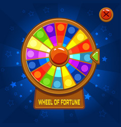 wheel of fortune for ui game vector image