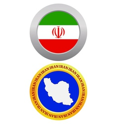 button as a symbol IRAN vector image vector image
