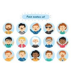 Male avatars vector image vector image