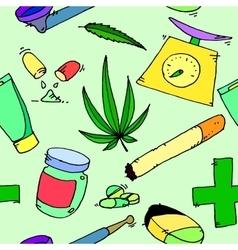 Medical marijuana pattern vector image