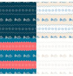 sea seamless pattern vector image