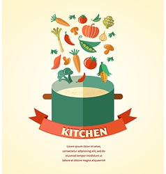 vegetarian and vegan healthy organic background vector image vector image
