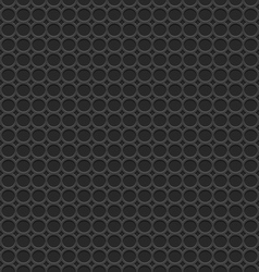 3d geometric black seamless pattern with circles vector