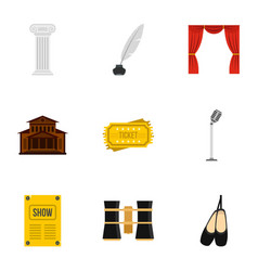 Ballet icons set flat style vector