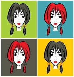 devojcicaa1 vector image vector image