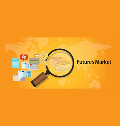 futures market trading stock exchange concept vector image