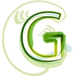 Green letter vector image vector image
