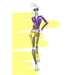 jacket-sketch-pencil vector image