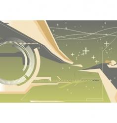 techno background vector image