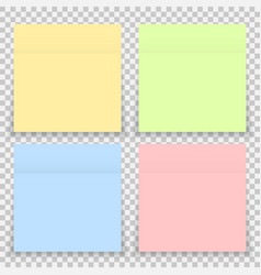 colorful office sticker note paper isolated vector image