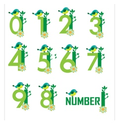 Cute Number vector image vector image