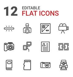 12 photo icons vector