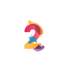 2 years anniversary celebration flux template vector