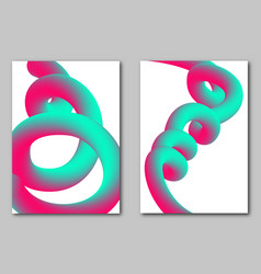 abstract futuristic cover dynamic 3d forms vector image