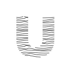 Abstract line initial u vector