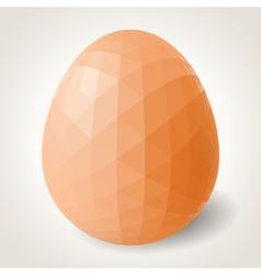 Abstract polygonal egg vector image