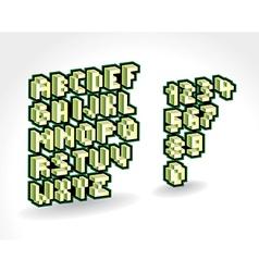 Alphabet AndNumbers Pixelized vector