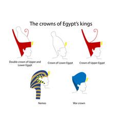 Ancient egypt crowns set ancient egypt art vector