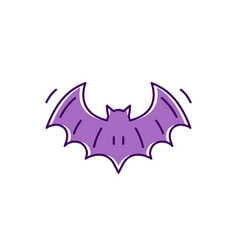 bat icon colorful flat halloween bat symbols vector image