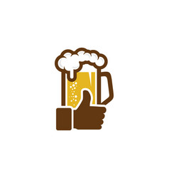 Best beer logo icon design vector
