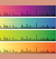 bologna multiple color gradient skyline banner vector image