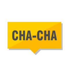 Cha-cha price tag vector