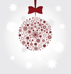 christmas tree ball filled with snowflakes vector image