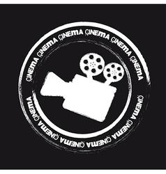 Cinema stamp vector