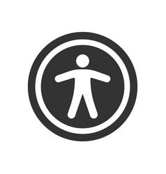 Circle accessibility icon vector