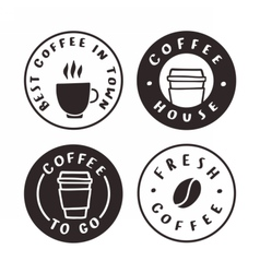 Coffee badges Logotypes labels vector image