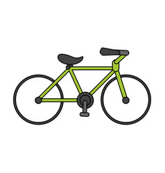 Color image cartoon sport bicycle transport vector