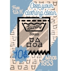 Color vintage laundry poster vector