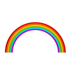 colorful rainbow icon vector image