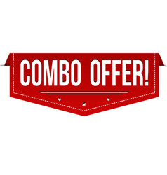 combo offer banner design vector image