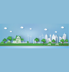 concept of eco friendly and save the earth vector image