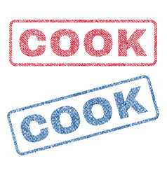 Cook textile stamps vector