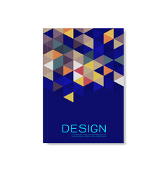 cover design template with triangle geometric vector image