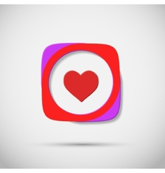Creative icon hearts on plain background vector