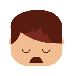 Depressed person character isolated vector