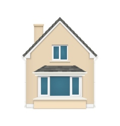 Detailed house icon isolated on white background vector image