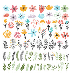 Different florals elements for your design project vector